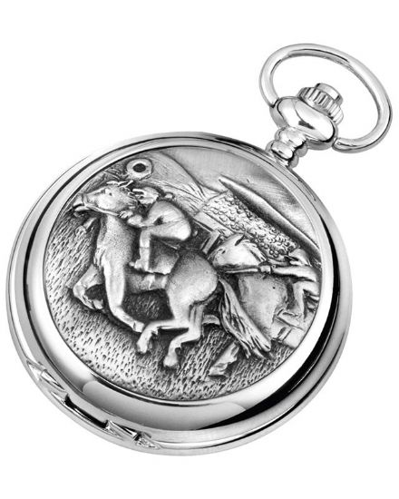 'Horse Racing' Quartz Pocket Watch with Chain